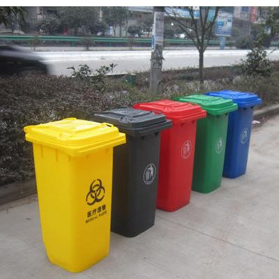 供应街道垃圾桶(图)|塑料环卫垃圾桶 户外用垃圾箱 可挂车可移动