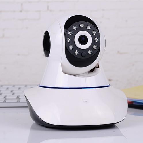 720P监控远程无线WiFi高清网络摄像头(摇头机器人)