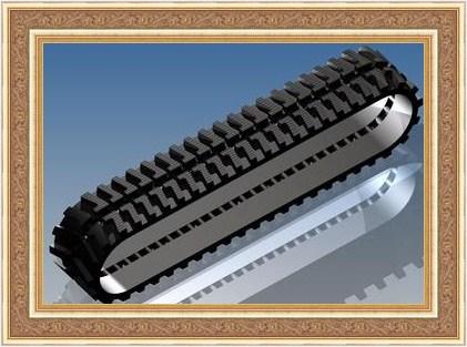 挖掘机液压配件绝缘橡胶履带