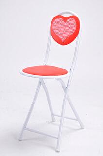 深圳淘美居时尚家居之户外家具系列心形休闲便携式塑料钢管椅