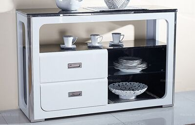 深圳淘美居时尚家居之餐厅家具系列环保耐用烤漆餐边柜促销