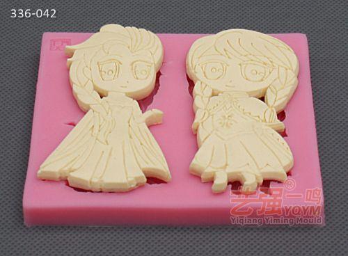 翻糖硅胶卡通动物模具 东莞艺强 厂家订制 糖艺制作模具
