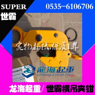 HLC H型世霸钢板钳,双重紧锁系统吊钳,龙海起重