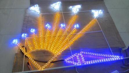 LED中国结,LED灯笼,双向灯带灯杆造型灯