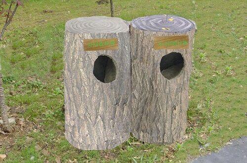 仿木垃圾桶厂家制作
