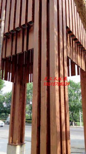 工程外墙木纹漆施工,钢结构上仿木纹漆,木纹漆施工报价
