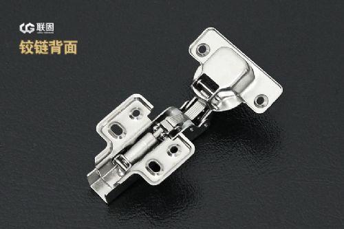 661-10阻尼液压铰链 衣柜橱柜烟斗合页 足厚固定冷轧钢缓冲门