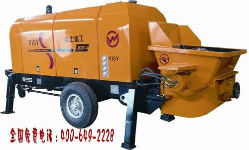 湖南搅拌拖泵一体机   小型混凝土输送机价格低