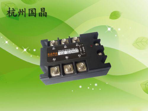 供应杭州国晶SSR-3D4860A三相固态继电器