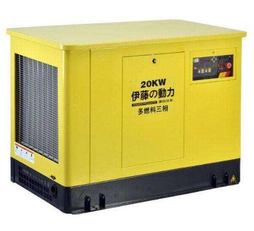 水冷四冲程20千瓦汽油发电机组
