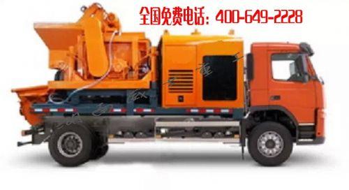 柴电两用车载式搅拌泵 混凝土泵车