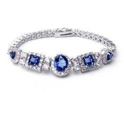 欧美时尚珠宝 七夕情人节礼物 超闪锆石手链微镶手镯