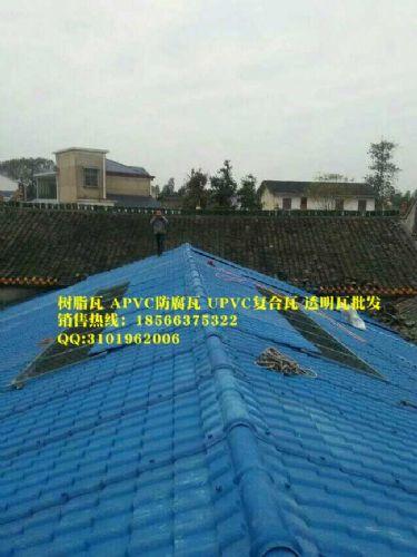 湖北枝江树脂瓦,仿古装饰屋顶瓦,塑料瓦片批发