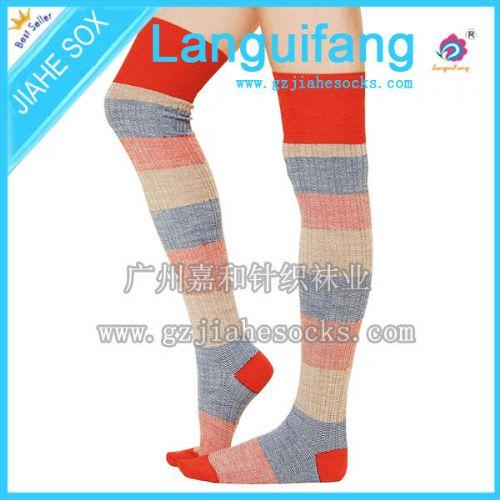 别致美腿膝上长袜、四骨长筒袜、过膝高筒袜、韩式时尚百搭长袜
