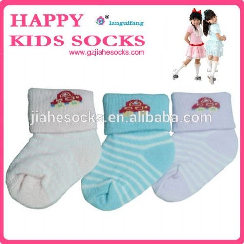 纯棉反口毛巾防滑童袜