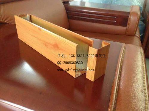 安徽生产50铝圆管木纹铝方管U型铝方通天花吊顶隔断幕墙装饰