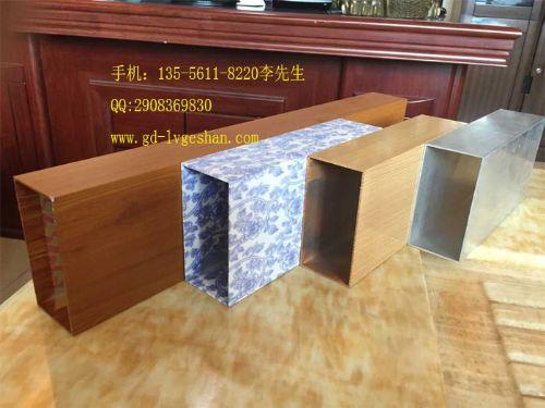 供应湖北木纹铝方通仿陶瓷铝方管厂价销售