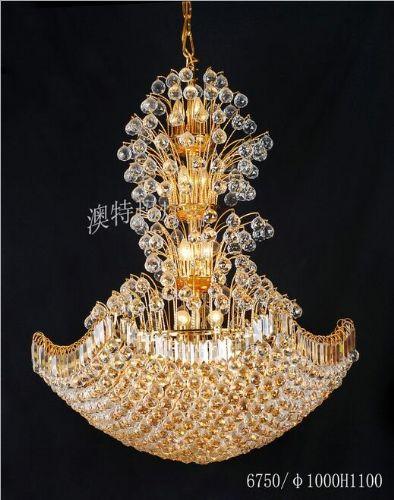 欧式客厅水晶蜡烛吊灯/