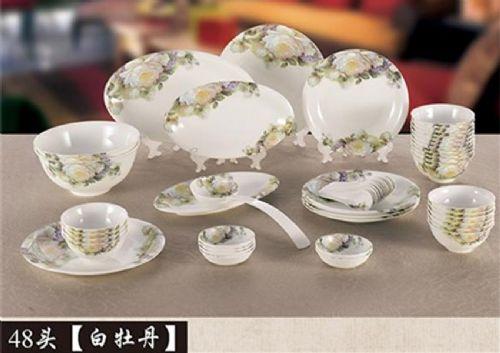 一套骨质瓷餐具价格-白色骨质瓷餐具-金鹿陶瓷