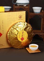 紧压茶百家福黄金饼茶砖茶叶礼盒400克