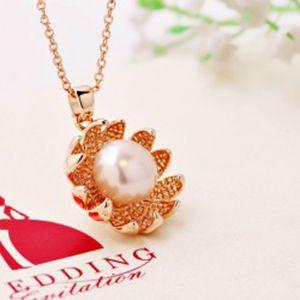 太阳花925银 天然淡水珍珠吊坠项链 七夕情人节礼物