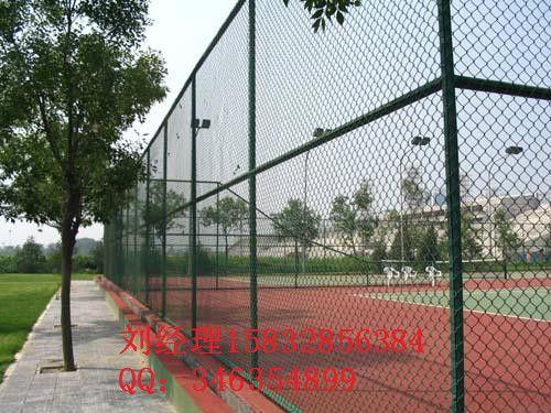 大理绿色浸塑4米高度操场勾花护栏网