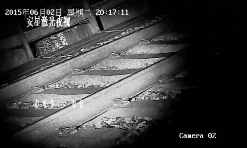 铁路专用无红曝激光夜视云台摄像机