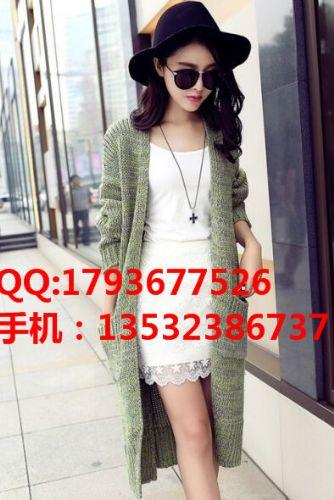 秋装新款韩版毛线针织外套韩版百搭针织开衫厂家直销便宜的女装货源