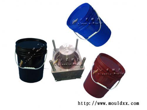 浙江注塑5L涂料桶模具生产 加工5升涂料桶塑料模具价格