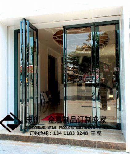 厂家供应不锈钢门,不锈钢仿铜门,不锈钢酒店玻璃门,不锈钢地弹簧门