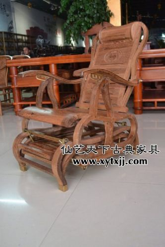 鸡翅木摇椅 红木摇椅 仙游红木家具厂 仙艺天下古典家具有限公司
