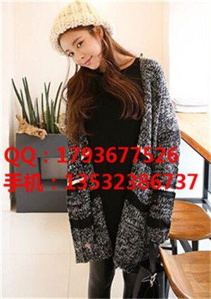 新款秋冬女装秋装针织开衫便宜批发日韩女装短款外套时尚潮流女装货源