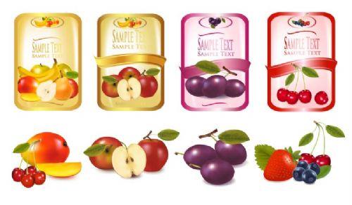 厦门订做红富士苹果不干胶标签,龙岩水果透明标签
