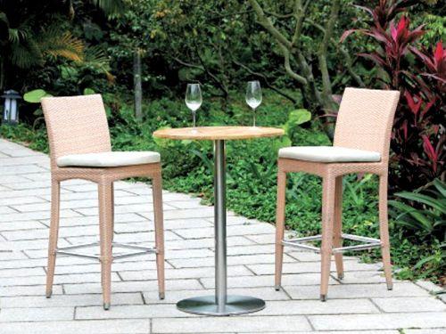 欧式高脚酒吧椅 户外仿藤餐桌椅 KTV酒吧专用吧椅