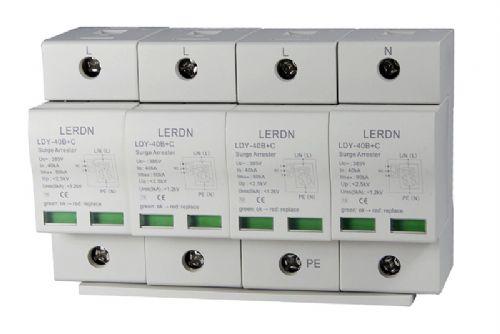 限压型I+II级电源防雷器