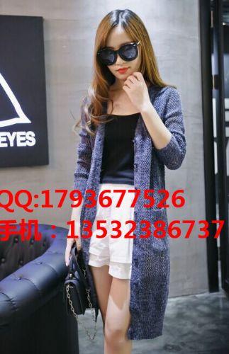 女装货源虎门厂家一手货源批发韩版秋季女装毛衣针织外套开衫日韩女装