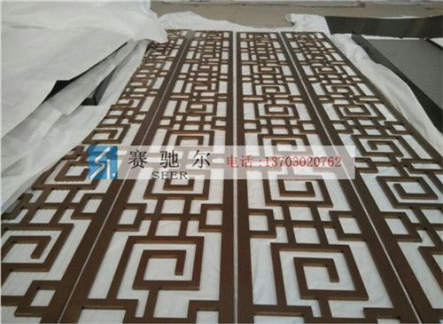 成安县古典不锈钢屏风 香道不锈钢装饰屏风