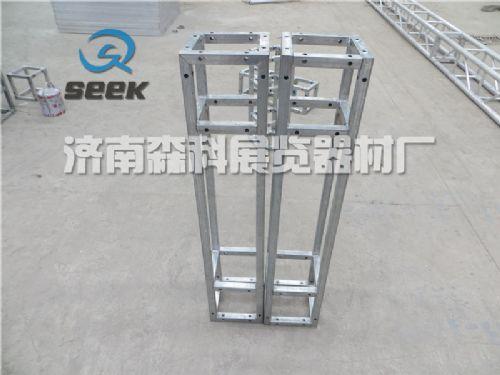 钢铁桁架,加强方管桁架,镀锌桁架 自带接头,钢铁背景架厂家