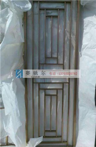 武安市不锈钢屏风 拉丝不锈钢屏风