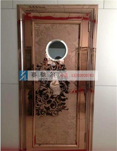 广宗县玫瑰金蚀刻不锈钢门