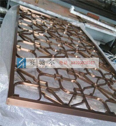 临城县古铜焊接不锈钢屏风 隔断不锈钢屏风