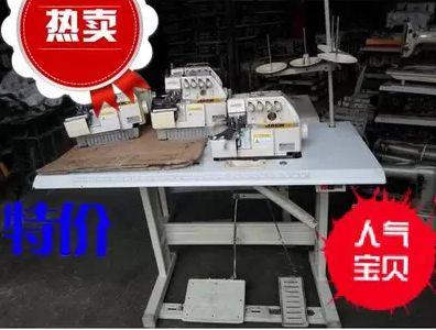 二手杰克牌747/4线锁边机/包缝机/针织服装机械加工设备