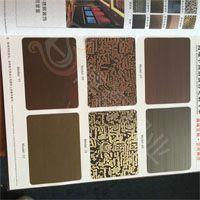 镀黑钛面板 不锈钢蚀刻板 树纹蚀刻装饰板