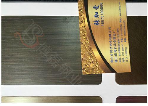 拉丝红古铜不锈钢蚀刻板,红古铜拉丝不锈钢蚀刻板,镀铜不锈钢蚀刻板