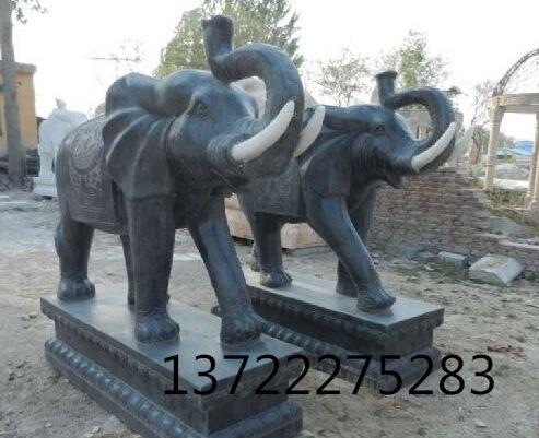 汉白玉大象,青石大象,晚霞红大象