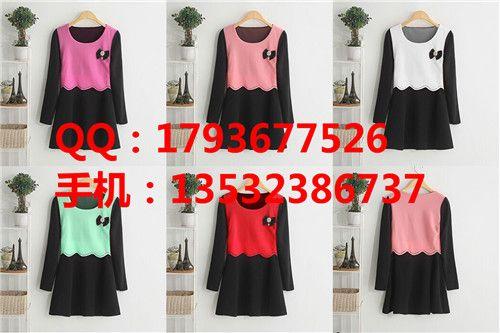 韩版女装秋季女装厂家批发服装批发市场便宜批发修身长袖连衣裙
