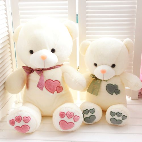 扬州毛绒玩具厂家直销定制批发心心相映熊一手货源分销平台网店