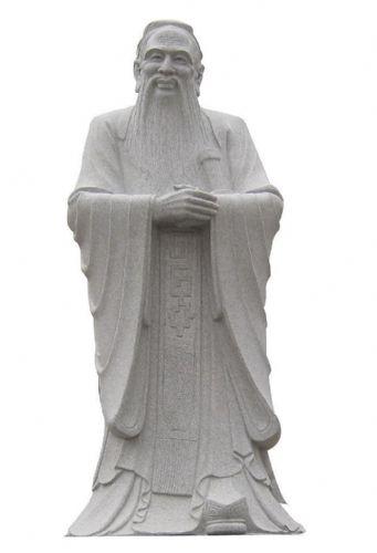 石雕孔子雕像