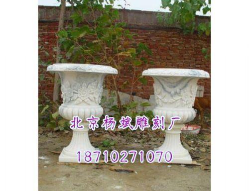 大型石雕花钵图片,北京杨斌雕刻厂