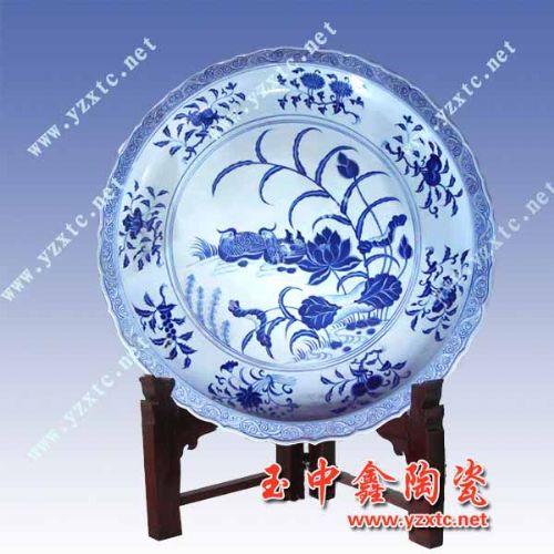 陶瓷纪念盘,手绘纪念盘,青花瓷纪念盘
